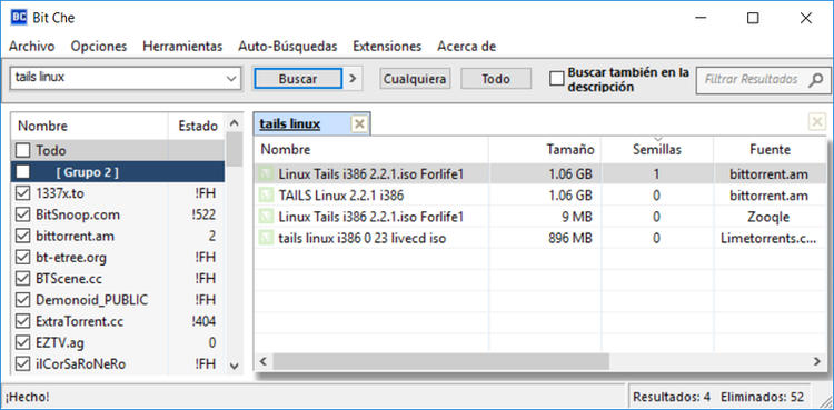 Bit Che software para buscar torrents gratis
