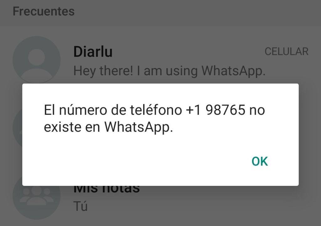 Saber si un número existe en WhatsApp sin agregarlo