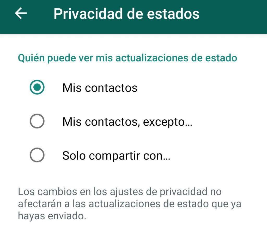 Privacidad Estados