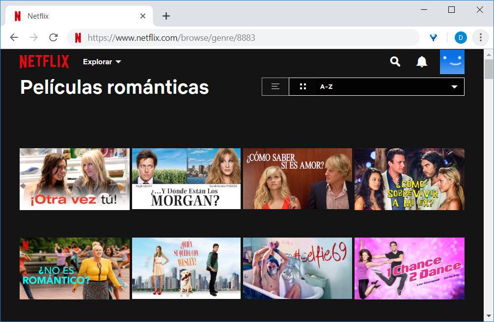 Categorías ocultas de Netflix