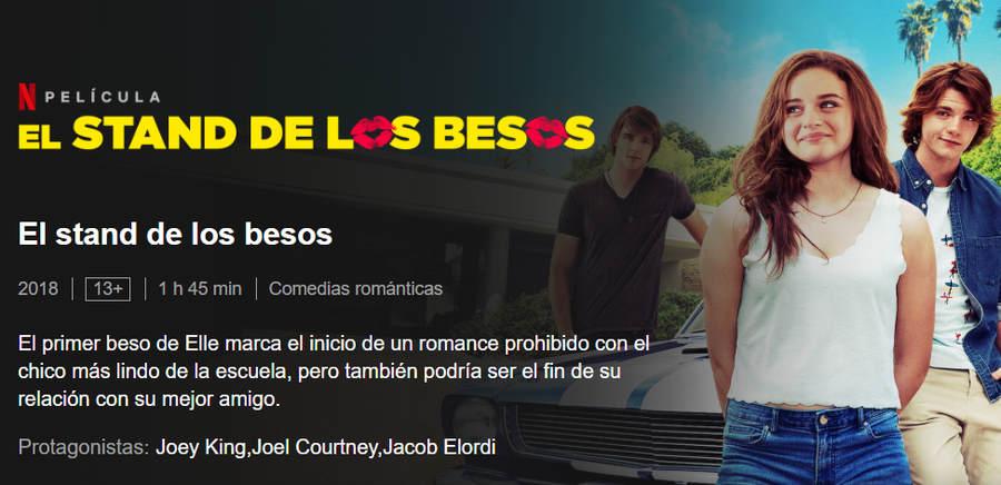 El stand de los besos película de amor Netflix