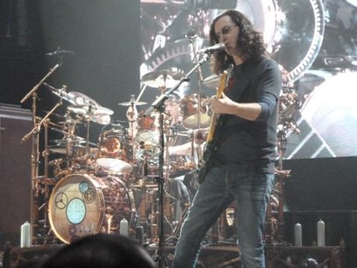 Geddy Lee & Neil Peart at MEN 2011
