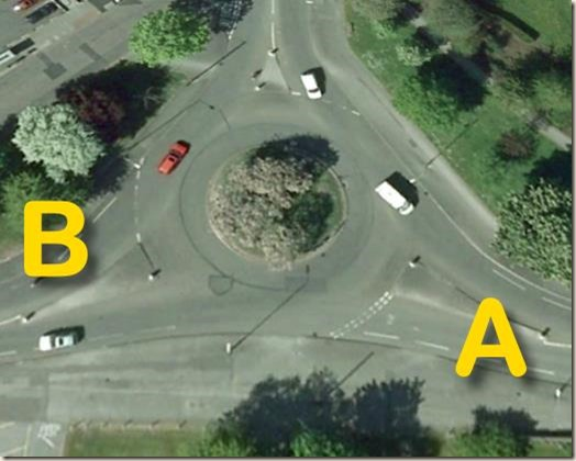 Historical roundabout on Soutchurch Drive/Farnborough Road