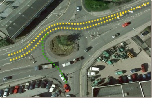 The Virgin Roundabout in Colwick, Nottingham