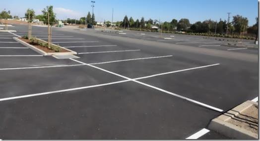 Empty parking bays