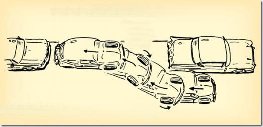 An old parallel parking tutorial diagram