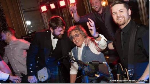Roger Daltrey gate-crashes wedding in Scotland