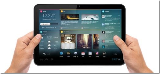 A tablet handheld device