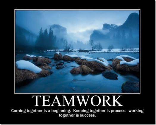 Teamworking image poster