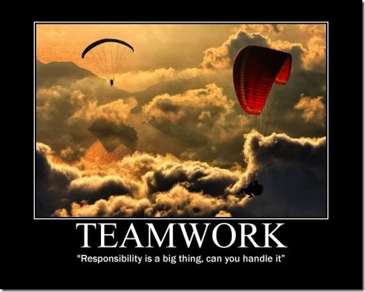 Teamworking image poster