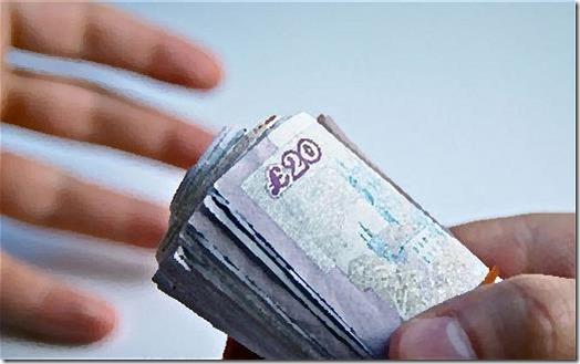 Bribery - it means handing over money