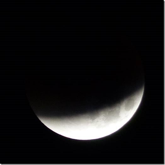 Moon - around 2.55am Monday morning