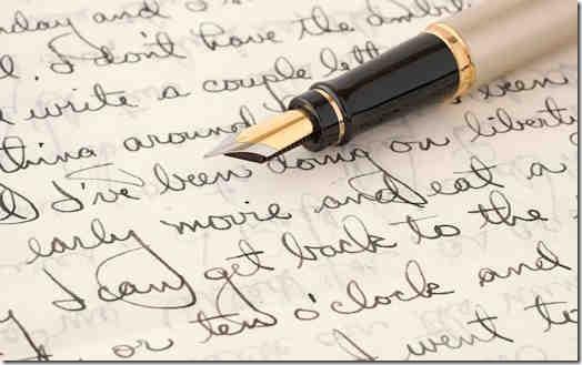 Neat handwriting