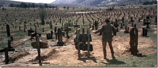 Sad Hill Cemetery in the movie