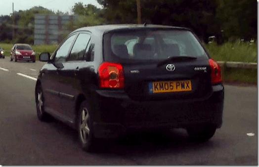Black Toyota Corolla - KM05 PWX