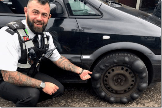 A car stopped by Derbyshire Police - and no crime recorded