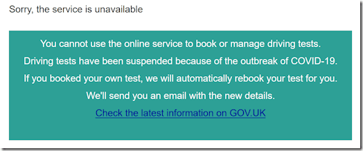 GOV.UK main message