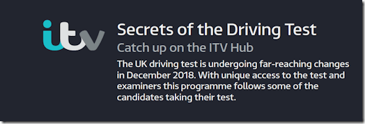 ITV: Secrets of the Driving Test