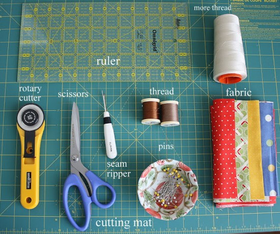 Basic quilting supplies