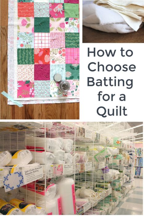 How to Choose Batting For a Quilt- differences in fibers, loft, cotton and polyester