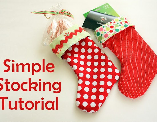 Easy Christmas Stocking Pattern & Sewing Tutorial featured by top US sewing blog, Diary of a Quilter