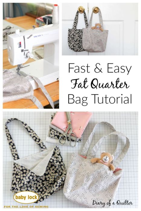 Fast and Easy Fat Quarter Bag Tutorial from Diary of a Quilter