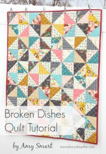 Broken Dishes simple baby quilt tutorial