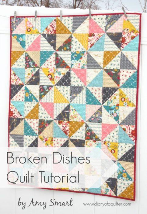 Broken Dishes simple baby quilt tutorial