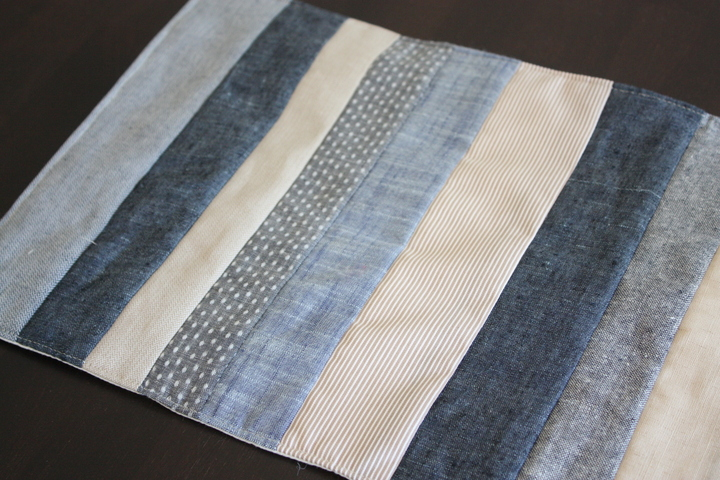 chambray linen patchwork
