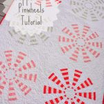 Peppermint Pinwheels quilt text