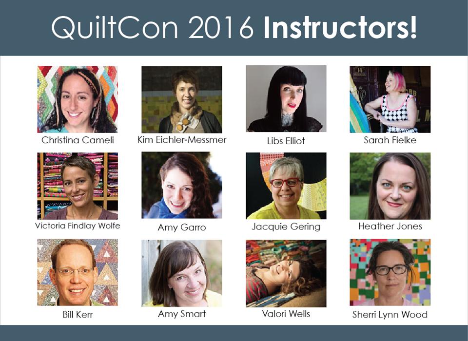 Quilt Con teachers 2016