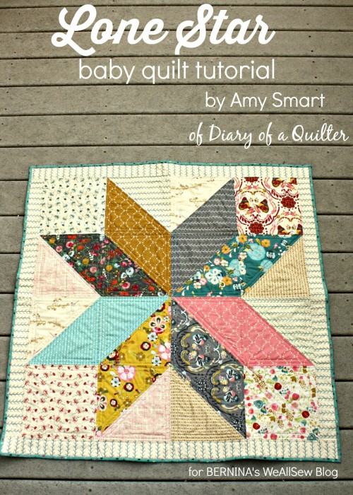 Lone Star quilt tutorial by Amy Smart