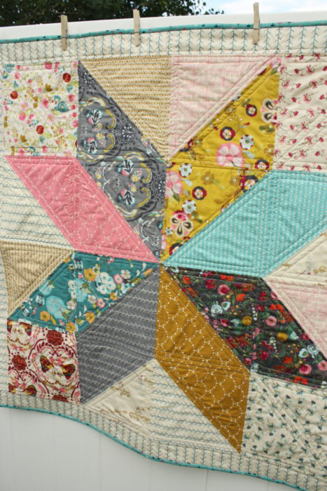 photograph regarding Baby Quilt Patterns Free Printable named Uncomplicated Do-it-yourself Progressive Star Youngster Quilt Manual Quilting Dairy