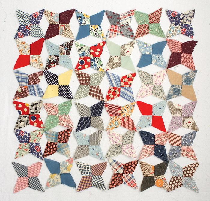 Scrappy vintage quilt blocks