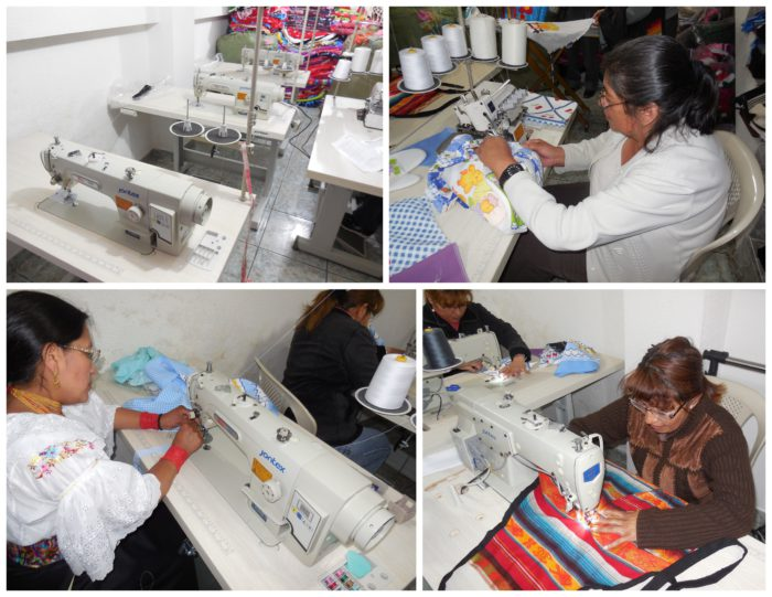 Sewing machines for Ecuador