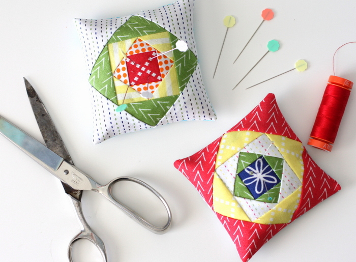 Foundation Paper Pieced Economy Quilt Block Pin Cushion