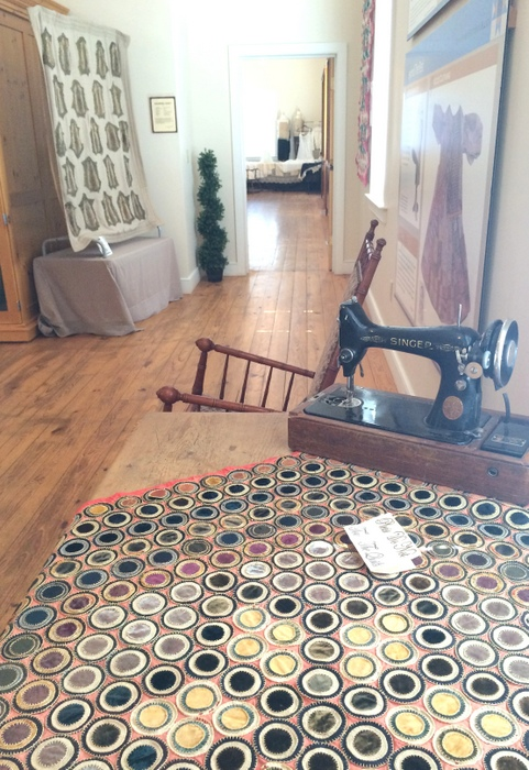 Vintage penny rug