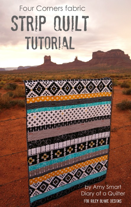 Four Corners row quilt tutorial by Amy Smart