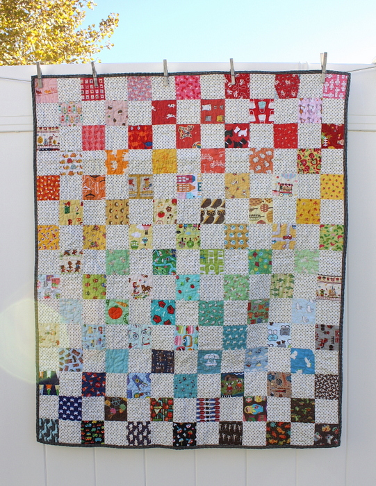 I-spy baby Quilt made by Amy Smart.