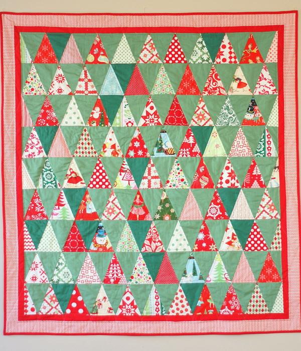 Amy Smart Christmas triangles