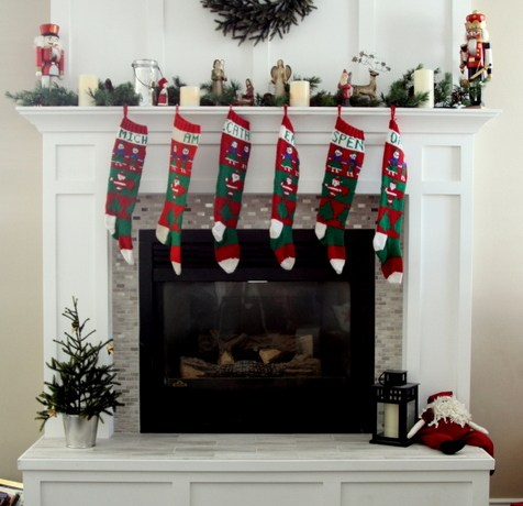 Christmas fireplace redo