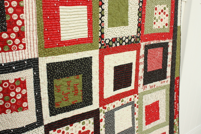 Countdown to Christmas Quilt close up