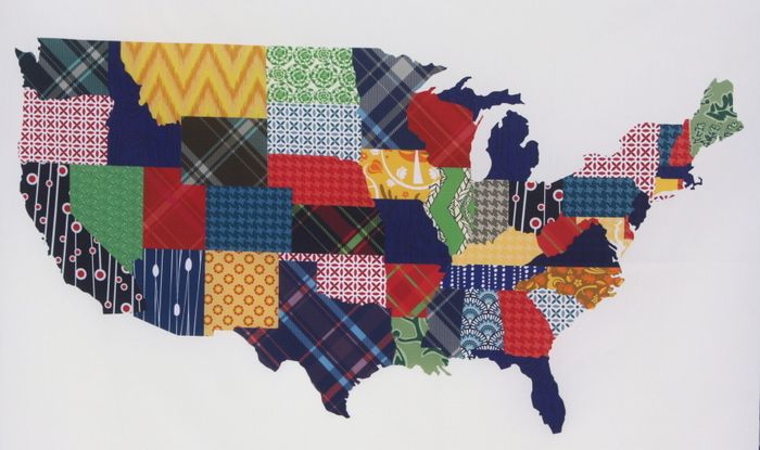 Pattern Jam US custom map fabric