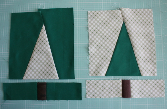 Modern Christmas Tree Quilt Block Pattern and Tutorial featured by top US quilting blog, Diary of a Quilter: Tree quilt blocks