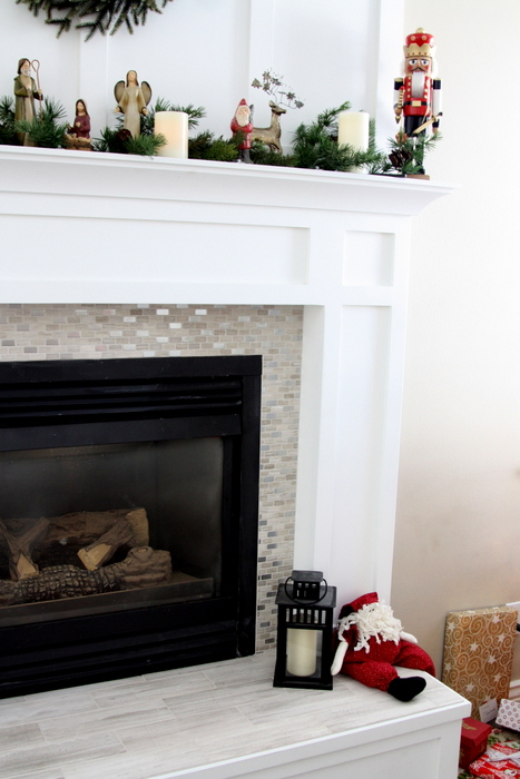 fireplace redo tile