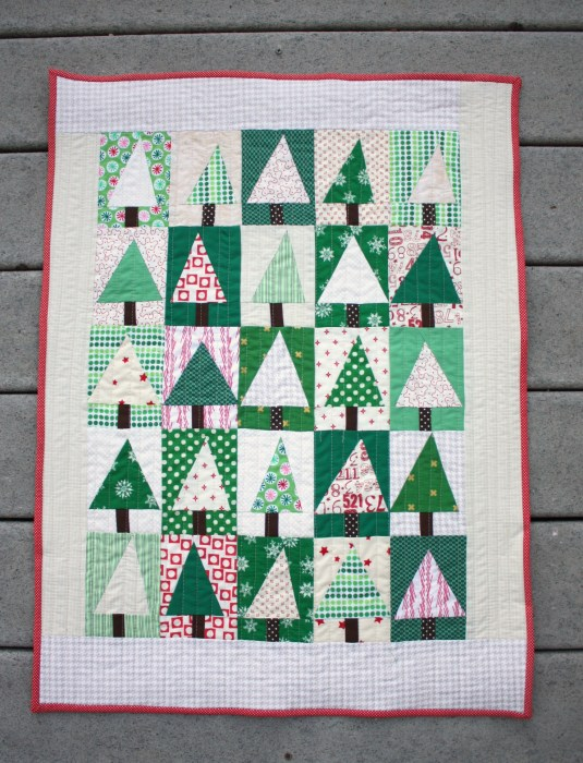 patchwork christmas tree block quilt tutorial