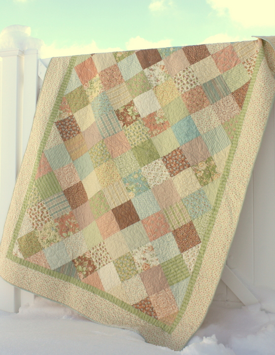 Dandelion Girl Moda Fig Tree patchwork quilt