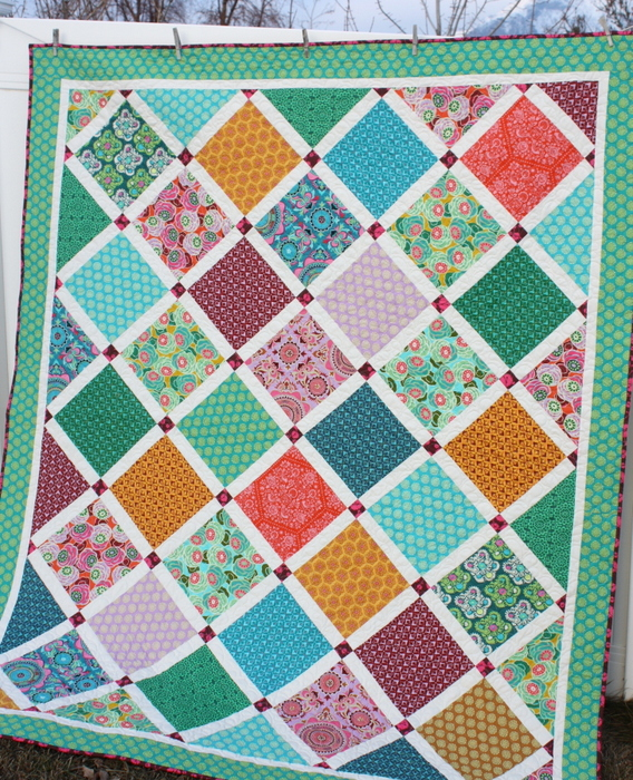 New Lattice Quilt by Amy Smart