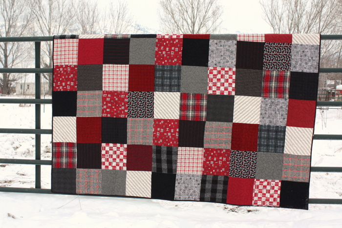 red and black flanel quilt