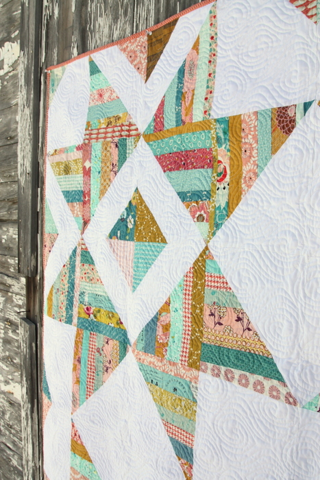 Scrappy Star quilting